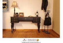Two-tone Antique Desk w/Black Rubbed Finish