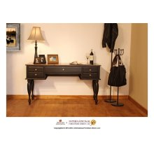Two-tone Antique Desk w/Black Rubbed Finish