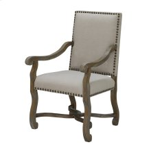 St. James Nailhead and Linen Chair