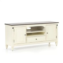 "Living Room - Glennwood 64"" TV Console  White & Charcoal"
