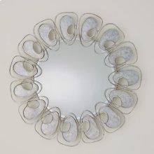 Flat Swirl Mirror-Silver Leaf