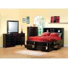 Phoenix Cappuccino California King Five-piece Bedroom Set Product Image