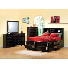 Phoenix Cappuccino California King Five-piece Bedroom Set
