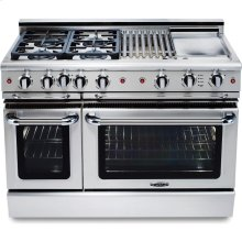"48"" 6 Burner w/Griddle Gas Self-Clean Convection Range - LP"