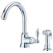 Chrome Fairmont 1H Kitchen Faucet w/ Spray 1.75gpm