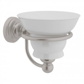 Satin Nickel Perrin & Rowe Edwardian Wall Mount Porcelain Soap Dish