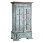 Hartford 2-door 2-drawer Cabinet With 3 Inner Shelves In Moonstone Blue
