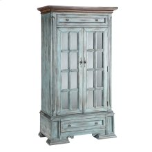 Hartford 2-door 2-drawer Cabinet With 3 Inner Shelves In Moonstone Blue