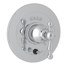 Polished Chrome Arcana Integrated Volume Control Pressure Balance Trim With Diverter with Arcana Series Only Ornate Metal Lever