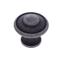 "Iron 1-3/16"" Large Button Knob"