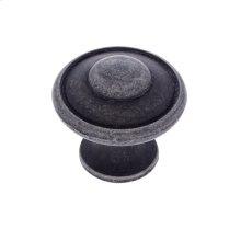 "Iron 1-3/16"" Large Button Knob"