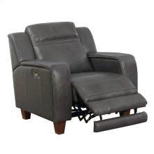 Power Recliner W/1 Power Headrest-top Leather #graphite