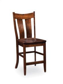 Corbin Stationary Barstool, Fabric Cushion Seat