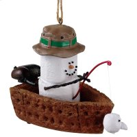 S'mores Fishing Boat Ornament. Product Image