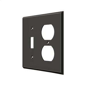Switch Plate, Single Switch/Double Outlet - Oil-rubbed Bronze