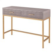 Durham Faux Shagreen Console Table 2 Drawers, Chronicle Gray Product Image