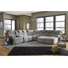 Left Arm Triple Power Reclining Console Loveseat w/Wands/Lights/Lighted Cupholders/Storage Product Image