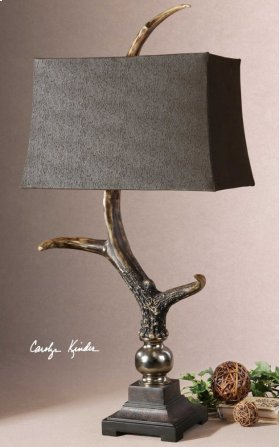 Stag Horn Dark Table Lamp