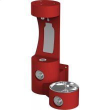 Elkay Outdoor EZH2O Bottle Filling Station Wall Mount, Non-Filtered Non-Refrigerated, Red