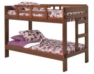 Heartland 2 x 6 One Piece Bunk Bed with options: Chocolate, Twin over Twin, Twin Trundle