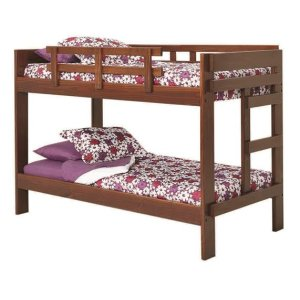 Heartland 2 x 6 One Piece Bunk Bed with options: Chocolate, Twin over Twin, 2 Drawer Storage