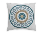 Native Circle Feather Toss Cushion 18x18 Product Image