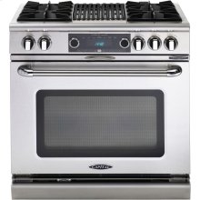 "Clearance Model - One of a Kind - 36"" 4 Burner Gas Convection Range, Dual Fuel, Self Clean"