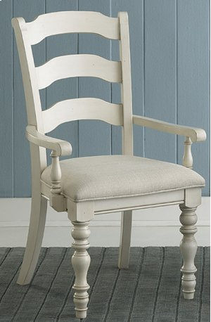 Pine Island Ladder Back Arm Chair - Set of 2