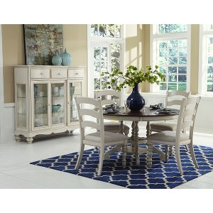 Hillsdale FurniturePine Island 5pc Dining With Ladderback Chairs - Old White