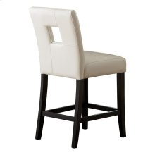 Counter Height Chair, White P/U