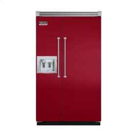 "Apple Red 48"" Quiet Cool™ Side-by-Side with dispenser - VISB Tru-Flush™ (48"" wide)"