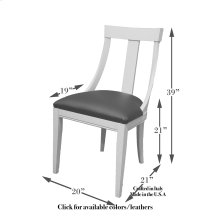 Deco Side Chair Frame, Leather