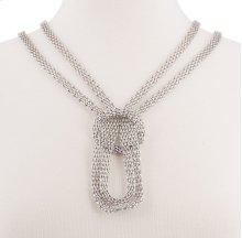 BTQ Silver Mesh Knot Chain Necklace