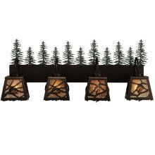 "35""W Spruce Pine 4 LT Vanity Light"