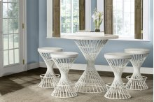 Kanister 5pc Counter Height Dining Set - White