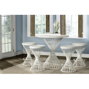 Hillsdale FurnitureKanister 5pc Counter Height Dining Set - White