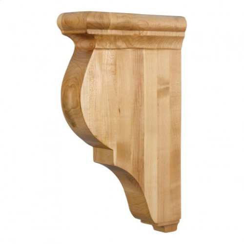 "3"" x 8-1/2"" x 14"" Wood Bar Bracket Corbel, Species: Alder"