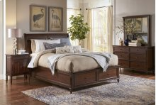 Avignon Birch Cherry Queen Storage Bed