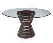 Hourglass Dining Table with 60''D Glass Top