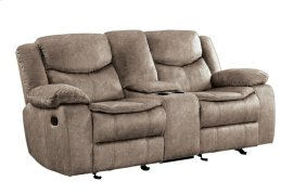 Double Reclining Love Seat with Console
