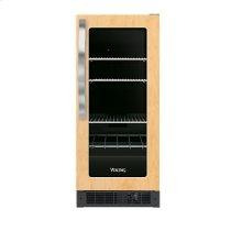 """15"""" Undercounter/Freestanding Custom Panel Beverage Center - DFUR (Left Hinge Clear Door, Black interior)"""