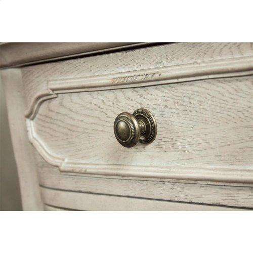 Elizabeth - Three Drawer Nightstand - Smokey White/antique Oak Finish