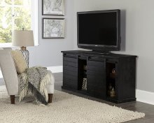 64 Inch Console - Black - Distressed Gray, Black, Navy, Pine, Red, \u0026 White Finish