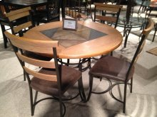 EATON ROUND STONE CENTER DINETTE TABLE