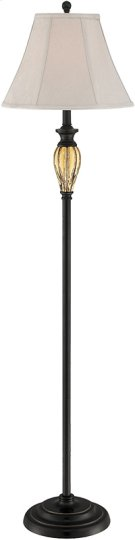 Floor Lamp - Dark Brz W.AMB DECO./FABRIC Shade, E27 Cfl 23w Product Image