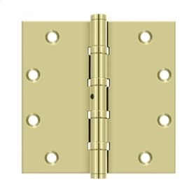 "5""x 5"" Square Hinges, Ball Bearings - Unlacquered Brass"