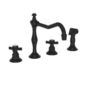 Gloss Black Kitchen Faucet with Side Spray