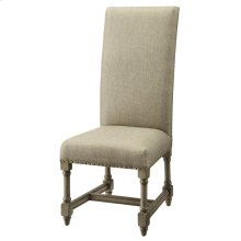 Baroque Linen Side Chair
