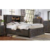 KING STORAGE HDBR W/ STORAGE FOOTBOARD
