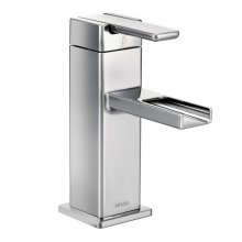 90 Degree chrome one-handle bathroom faucet